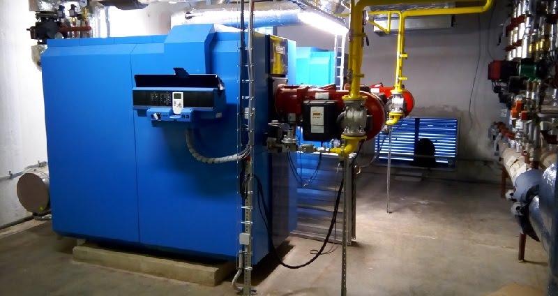 דוד גז מקצועי המשמש במערכות חימום מרכזיות